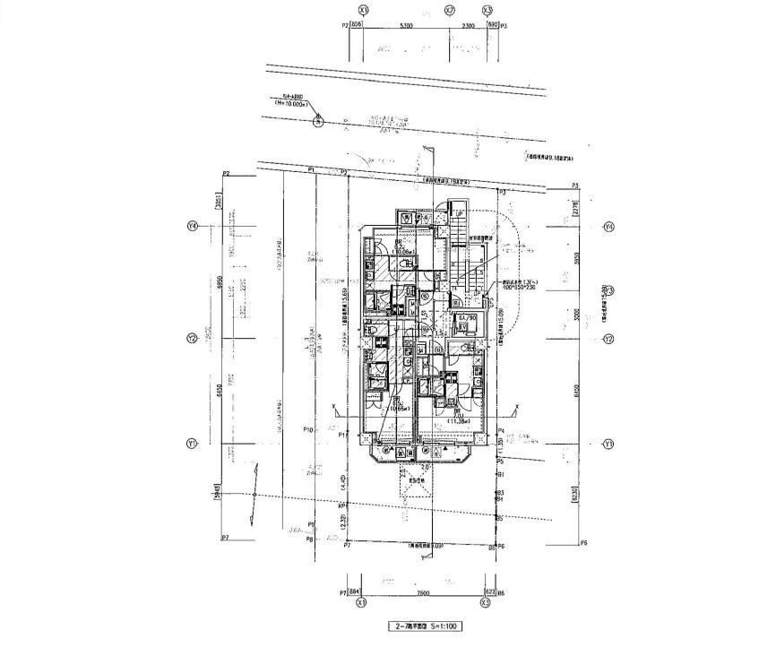 2階~7階平面図