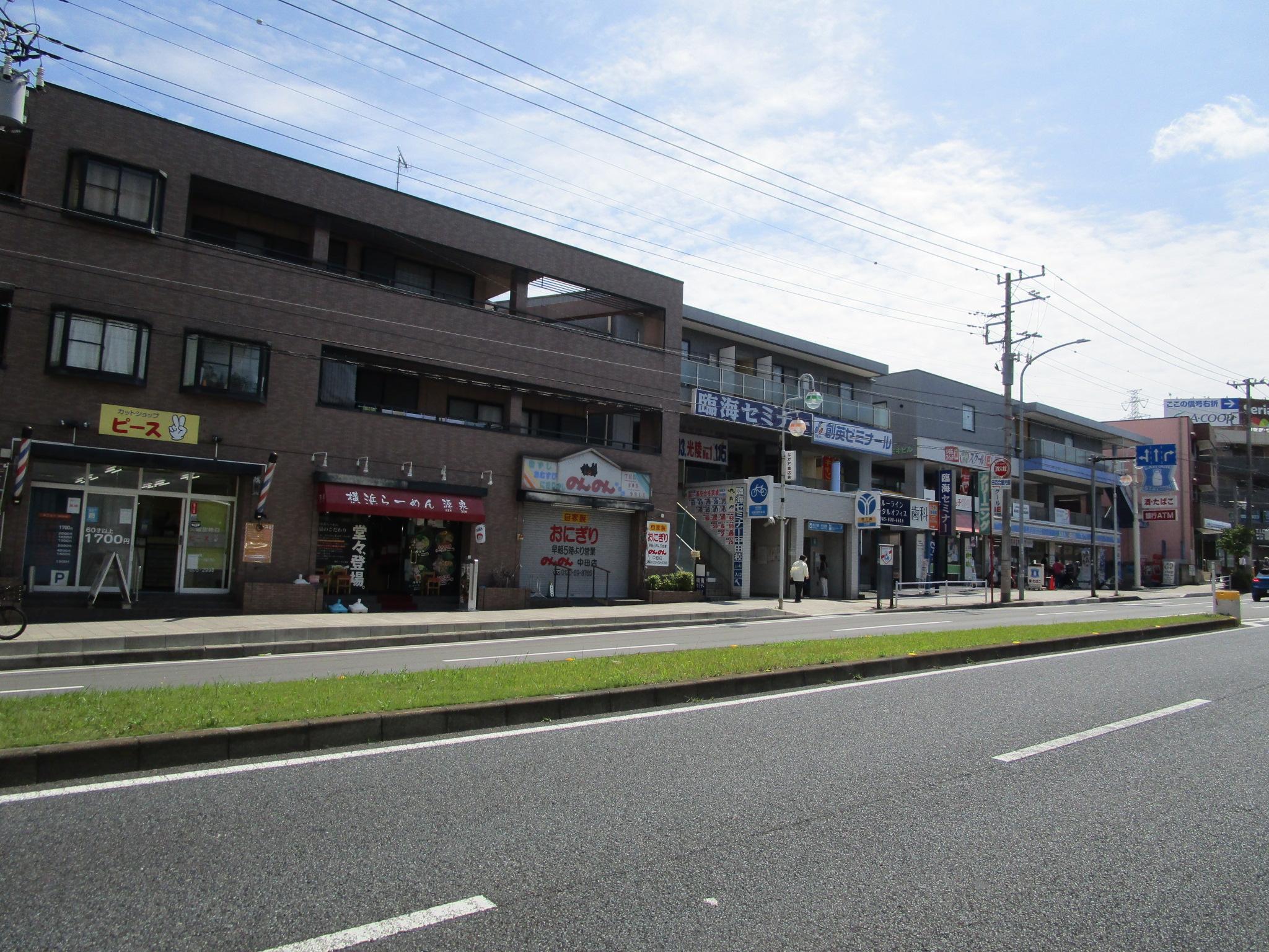 徒歩3分の「中田」駅前(周辺)