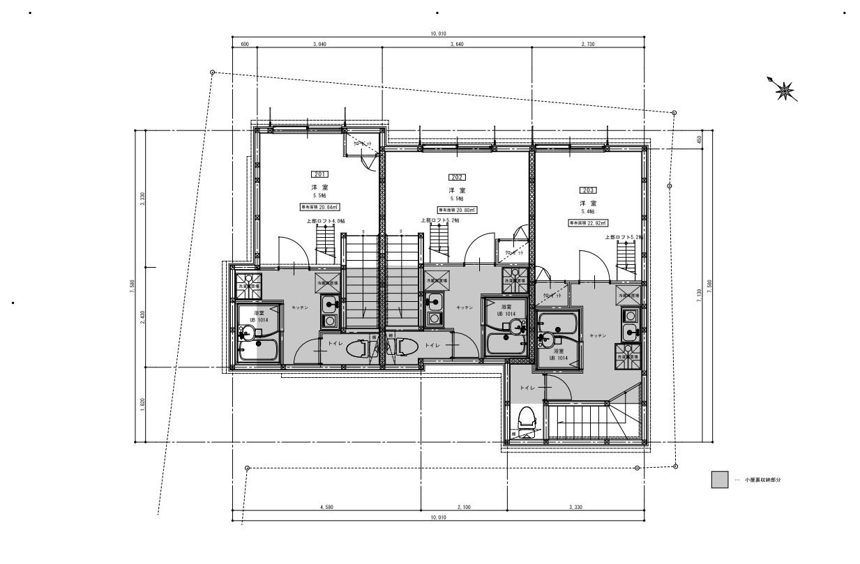 2階平面図(間取)
